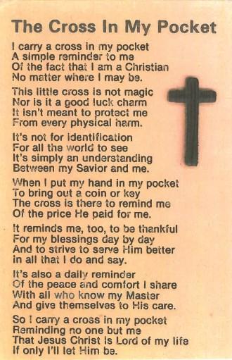 Cross in pocket